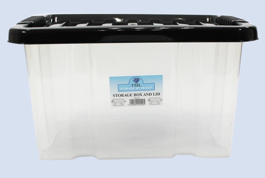 TML Storage Box & Lid - 24L Clear