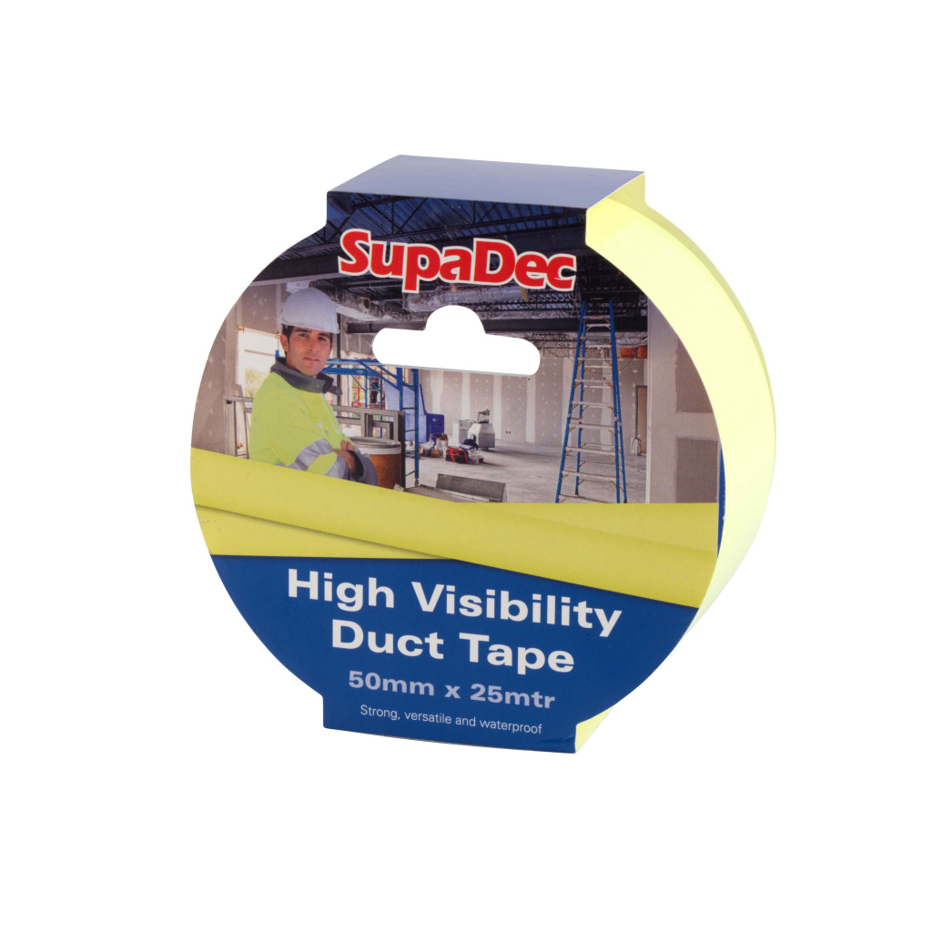SupaDec Hi-Vis Duct Tape - 50X25M