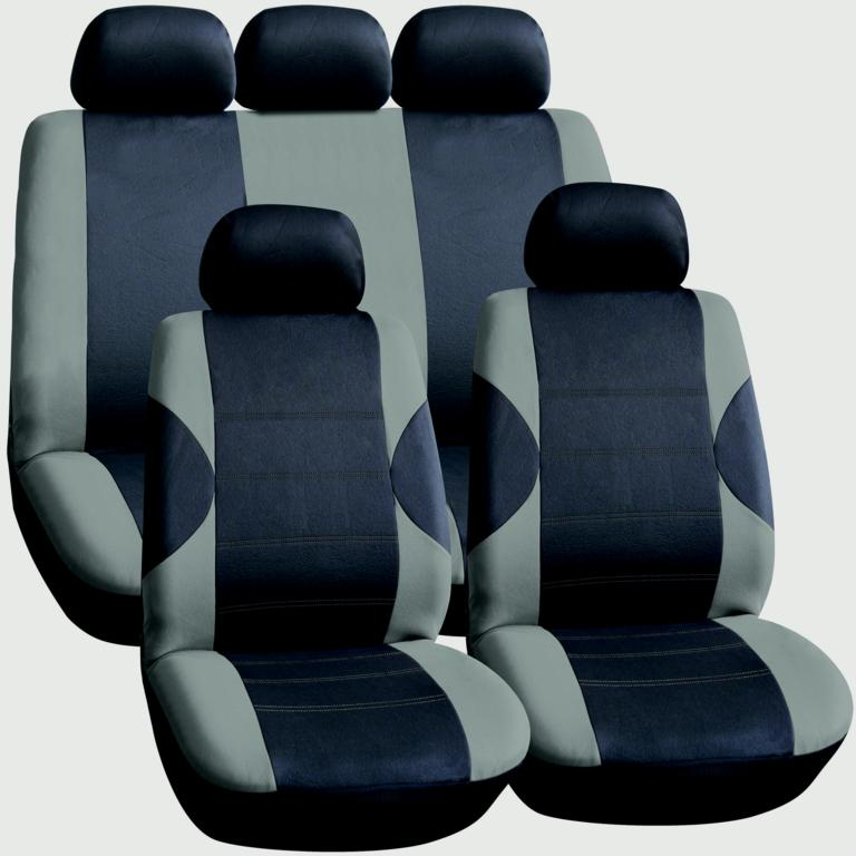 Streetwize Seat Cover Set - 11 Piece Grey/Black