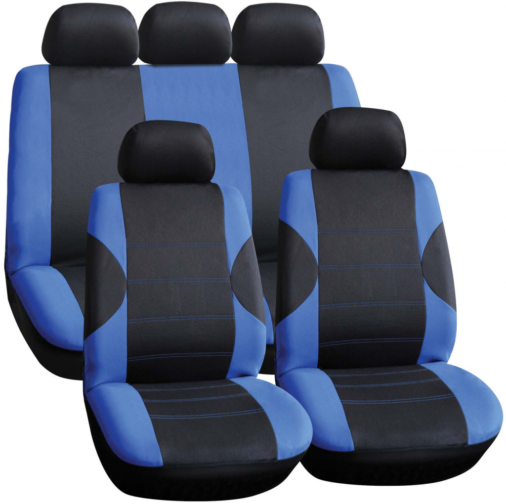 Streetwize Seat Cover Set - 11 Piece Blue/Black
