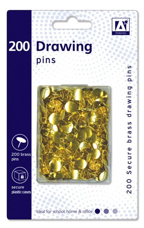 Anker Drawing Pins In Hardcase - Pack 200