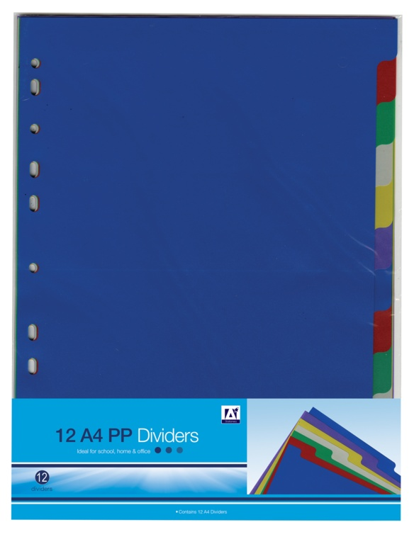 Anker Stat A4 Page Dividers - Pack 12
