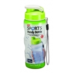 Lock & Lock Green Sports Handy Bottle with Carry Strap
