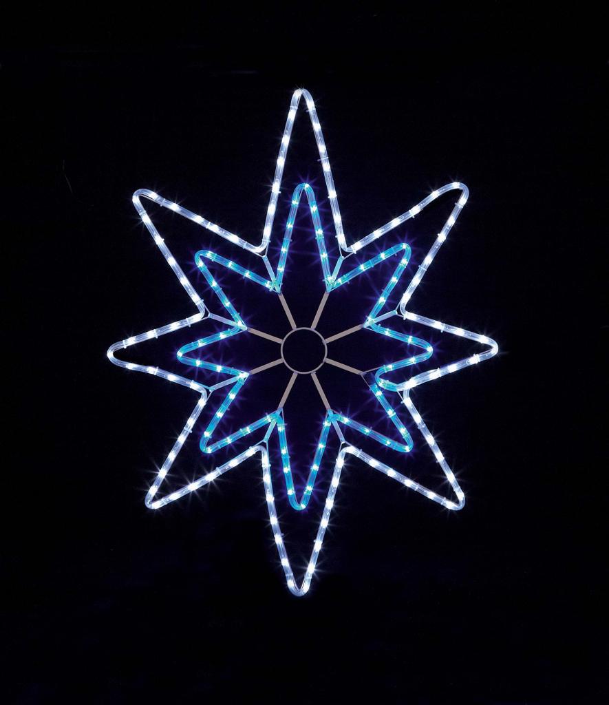 Premier Blue/White LED Star Rope Light - 95cm