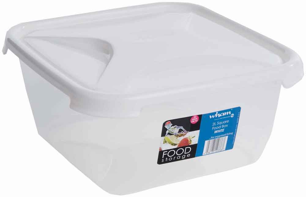 Wham Square Food Storage 2L - White