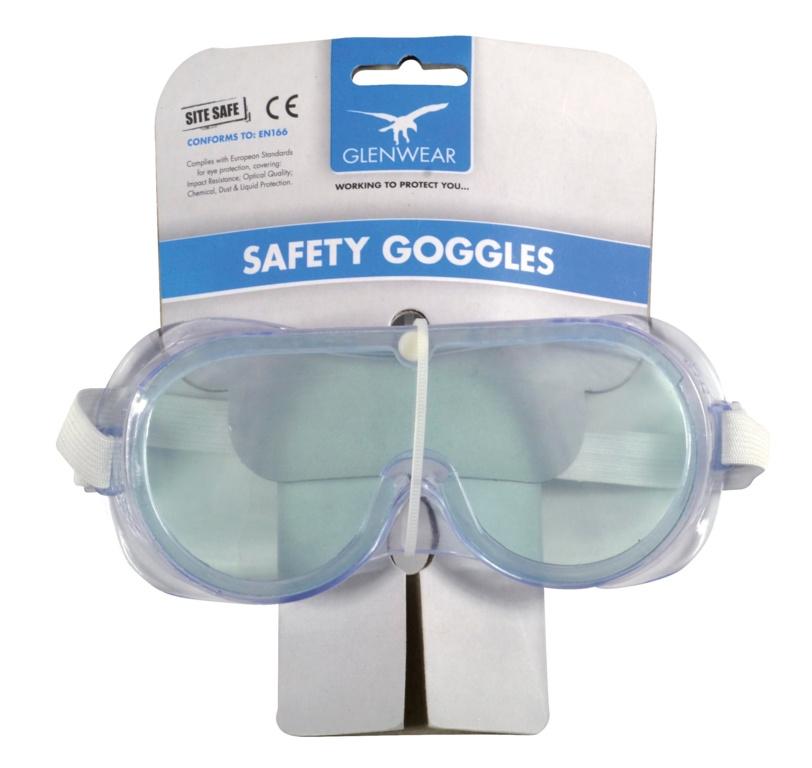Glenwear PVC Safety Goggles