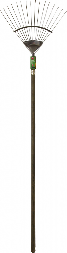 Ambassador Ash Handle Stainless Steel Lawn Rake - Length: 184cm