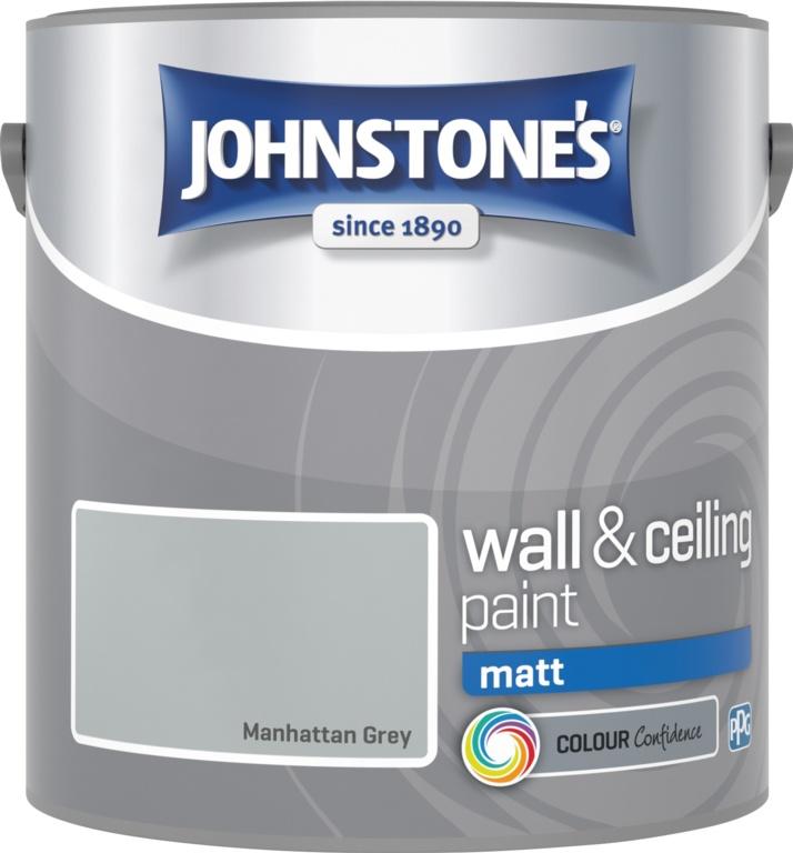 Johnstone's Wall & Ceiling Matt 2.5L - Manhattan Grey