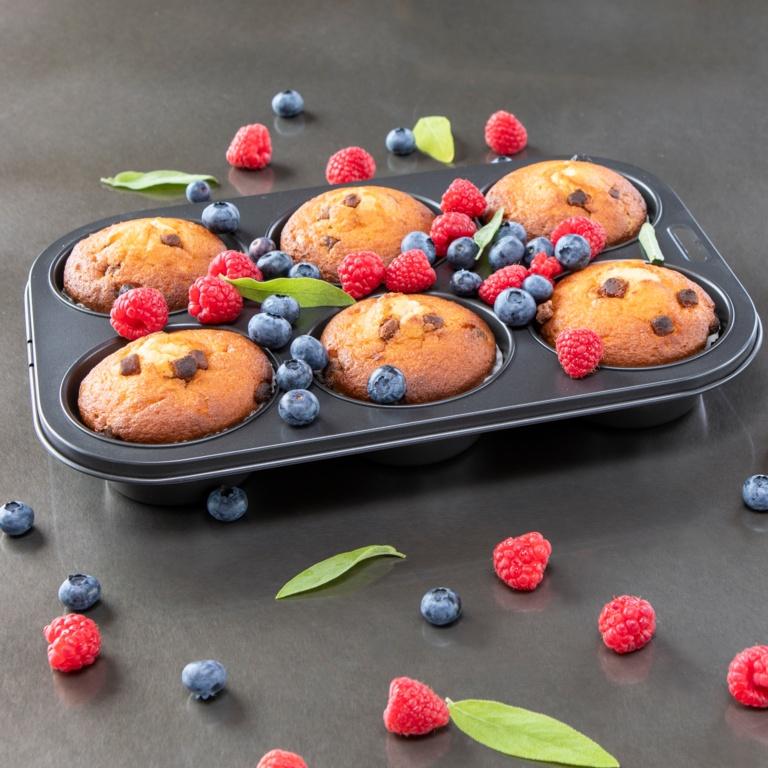 I-Bake Deep Muffin Pan - 6 Cup