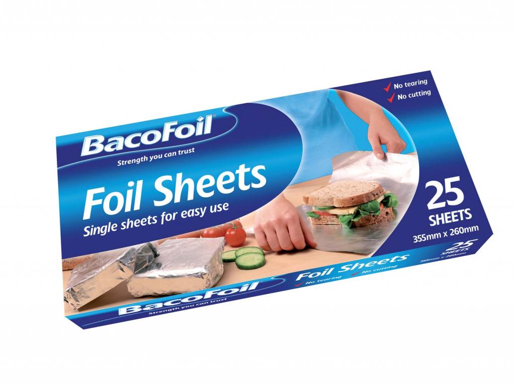 Bacofoil Sheets - 25 SHT