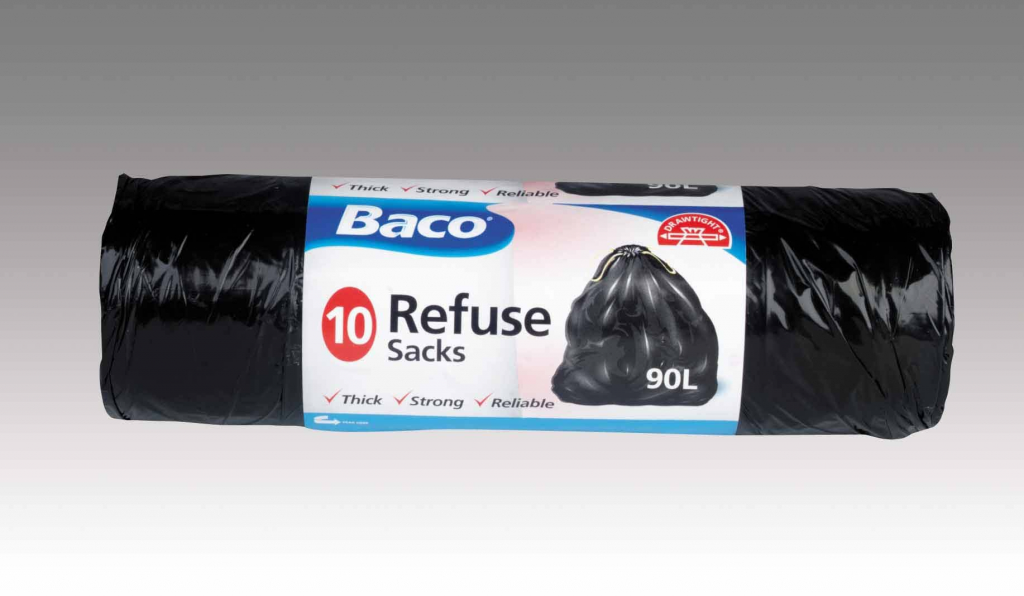 Baco Draw Tie Refuse Bags 10'S - 90L