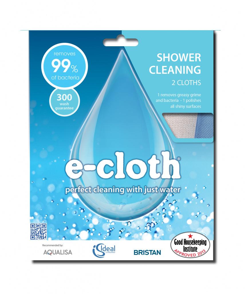 E-Cloth Shower Pack - 2 Cloths