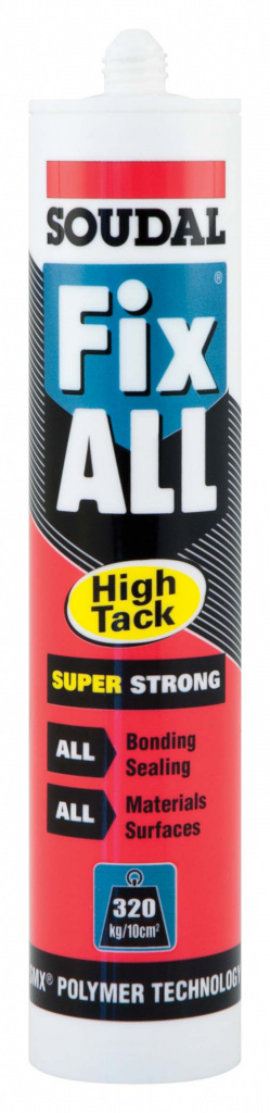 Soudal Fix All Super Strong Sealant/Adhesive - 290ml Cartridge Black