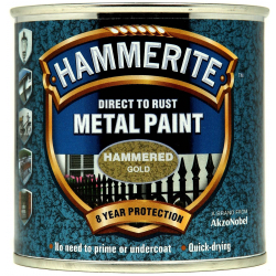 Hammerite Metal Paint Hammered 250ml Gold