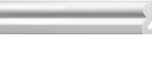 Emafyl White Architrave 2.2m - 55 x 19mm