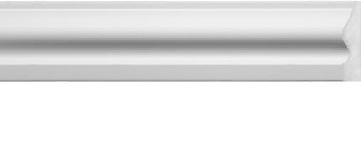Emafyl White Architrave 2.2m - 55 x 14mm