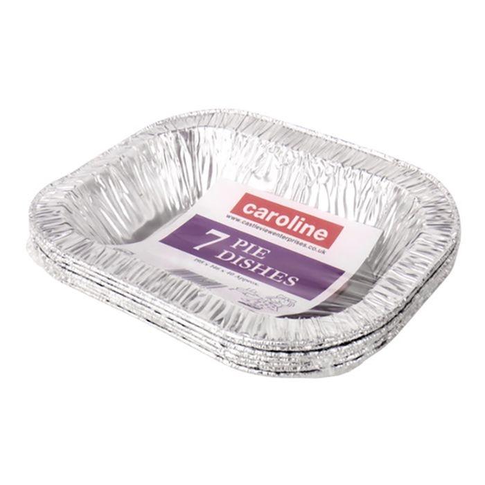 Caroline Rectangle Foil Pie Dish - 16oz Pack 7