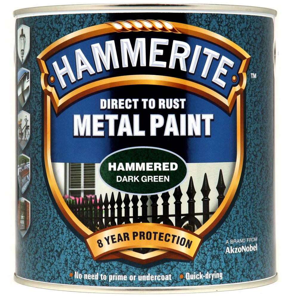 Hammerite Metal Paint Hammered 2.5L - Dark Green