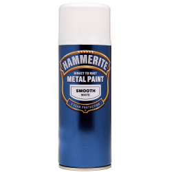 Hammerite Metal Paint 400ml Aerosol Smooth White