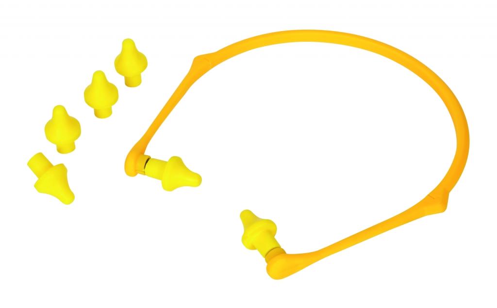 Vitrex Ear Caps with Foldable Headband - Yellow