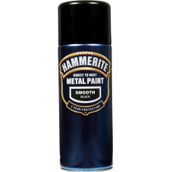 Hammerite Metal Paint 400ml Aerosol Smooth Black