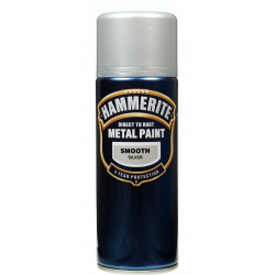 Hammerite Metal Paint 400ml Aerosol Smooth Silver
