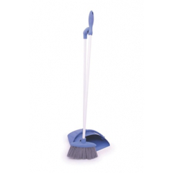 Lobby Dustpan And Brush Set - Blue and Silver