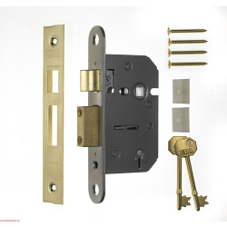 "Era 3"" 5 Lever Viscount Mortice Sashlock - Finish: Brass Effect"
