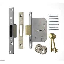 Era 5 Lever Viscount Mortice Deadlock 76mm - Finish: Brass Effect