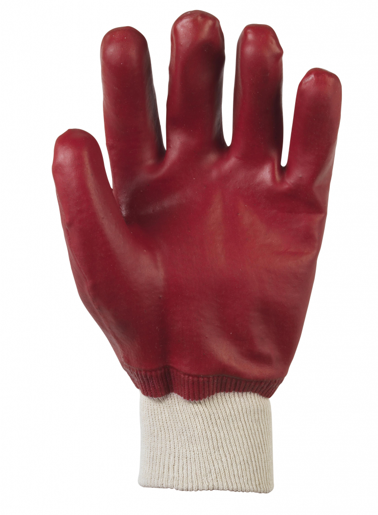 Glenwear PVC Coated Waterproof Glove - Red
