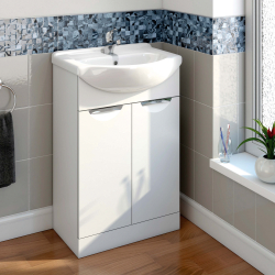 SP Sherwood White Vanity Unit 520mm