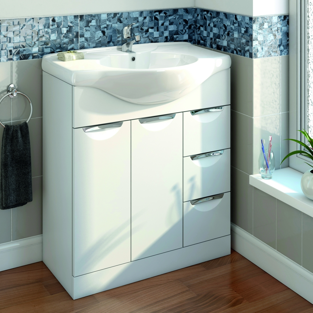 Sp Sherwood White Vanity Unit 710mm Stax Trade Centres