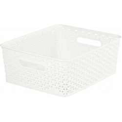 Curver Nestable Rattan Basket White
