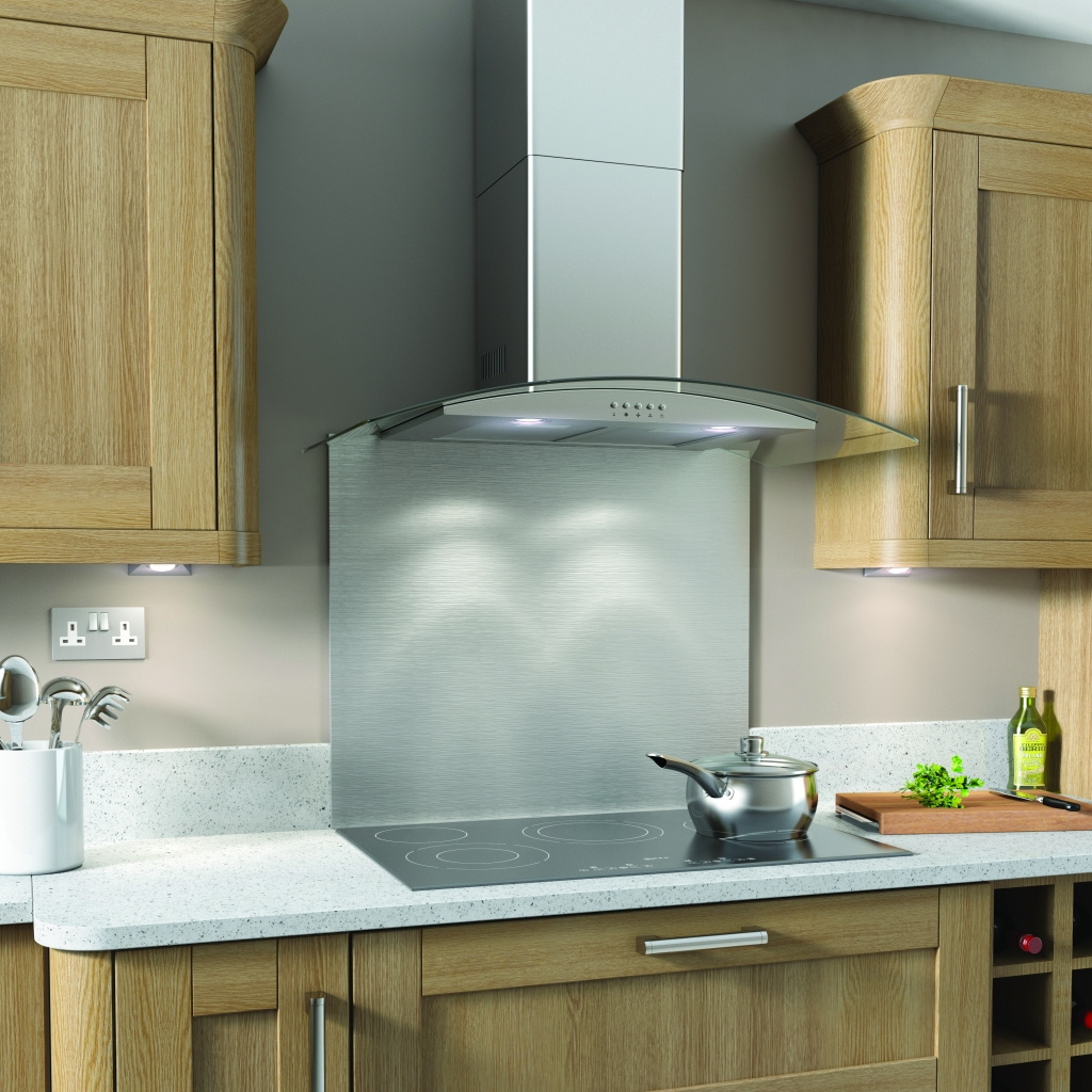 Kitchenplus Curve Stainless Steel Cooker Hood - 90cm