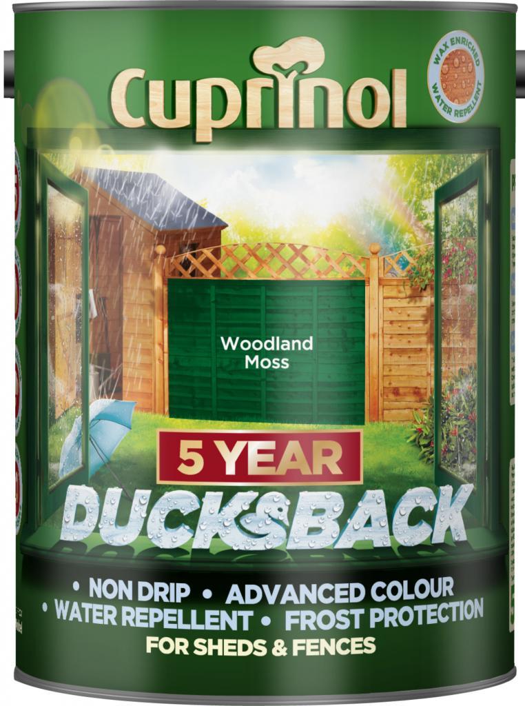 Cuprinol Ducksback 5L - Woodland Moss