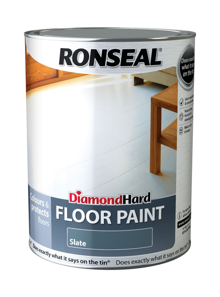 Ronseal Diamond Hard Floor Paint 5L - Slate