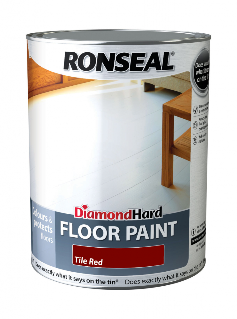Ronseal Diamond Hard Floor Paint 5L - Red
