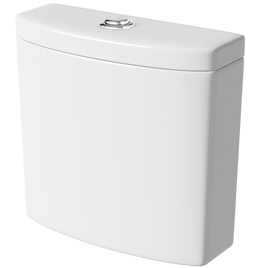 SP Ascent Close Coupled Cistern - W: 378mm H: 372mm D: 118mm