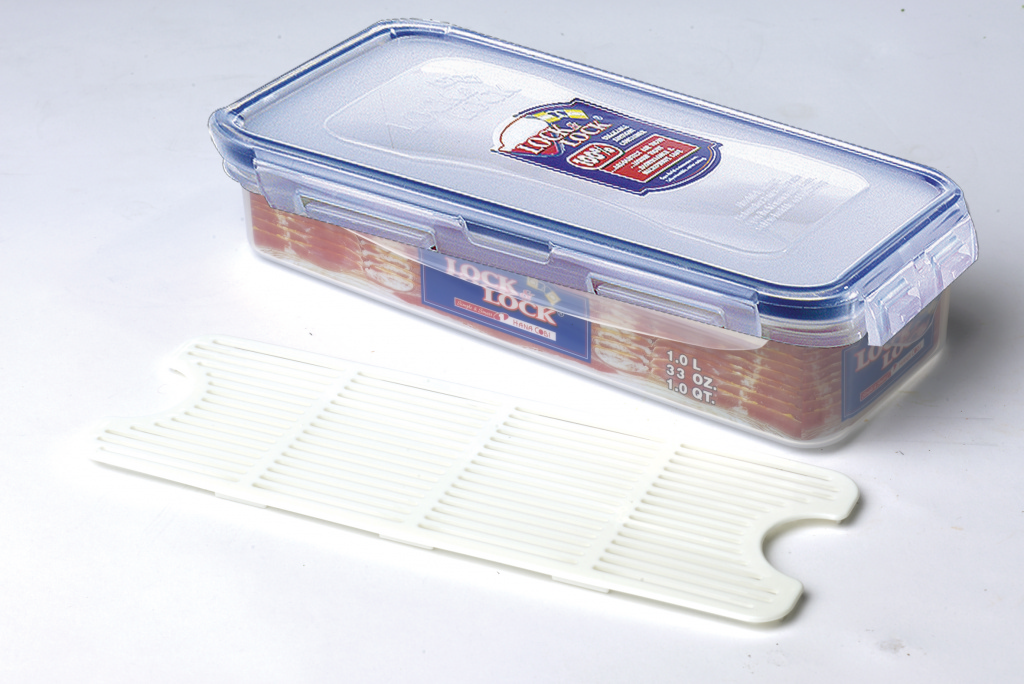 Lock & Lock Bacon Box With Freshness Tray - 1L