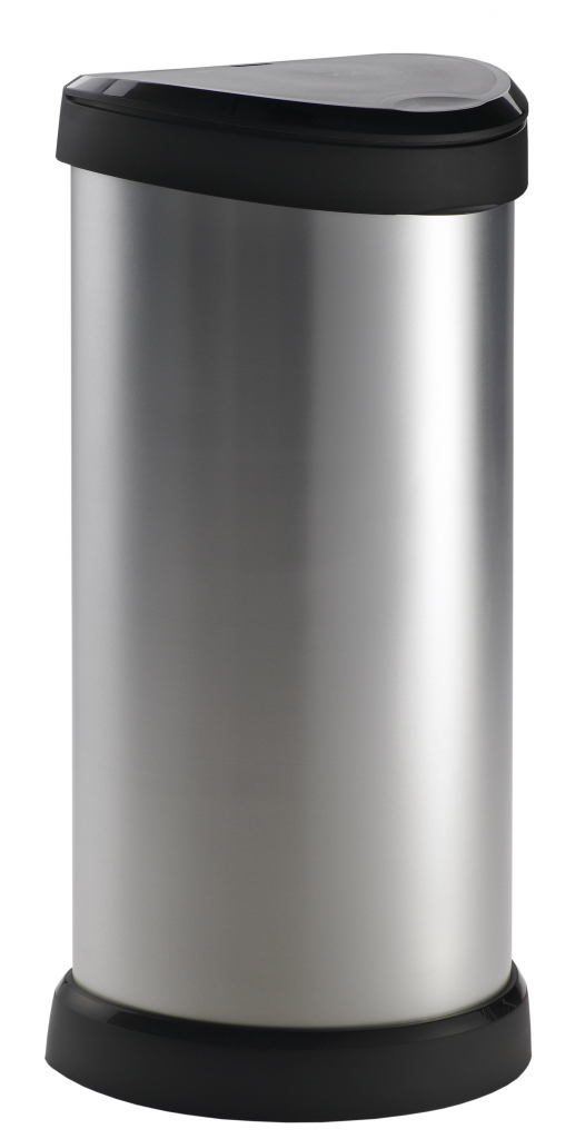 Curver Deco Touch Bin 40L - Steel Effect