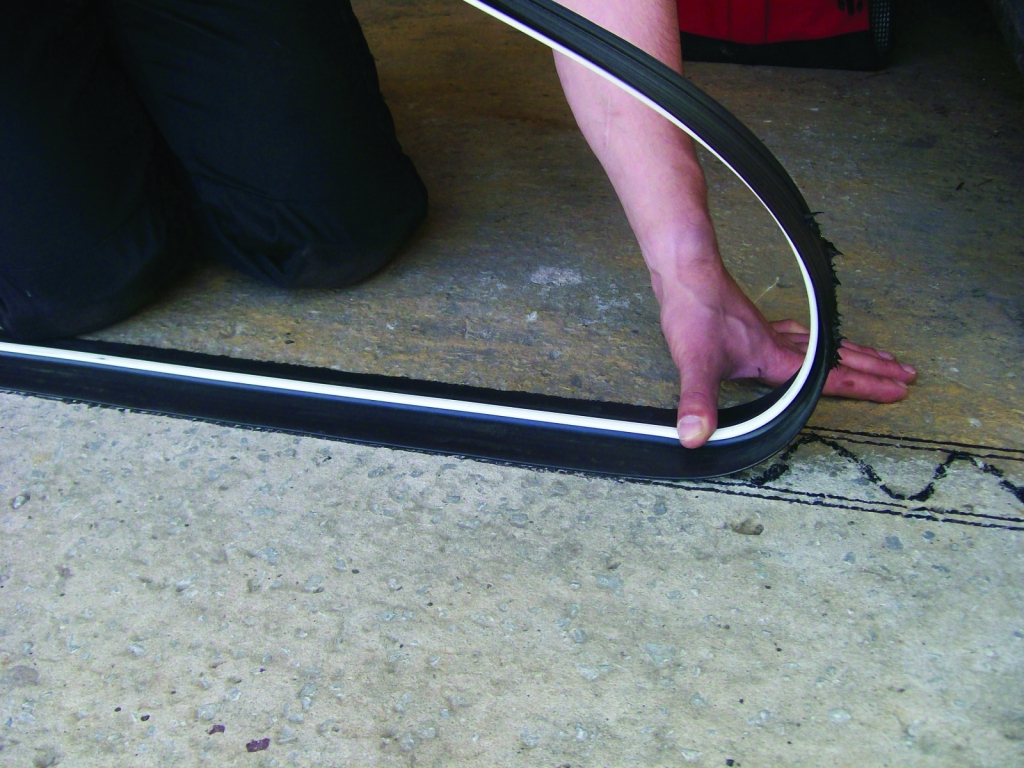 Stormguard Garage Floor Draught Excluder With Adhesive Seal - 2515mm Black