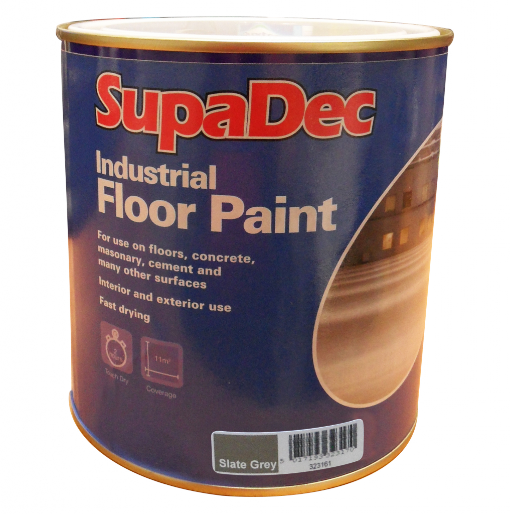 SupaDec Industrial Floor Paint 1L - Slate Grey