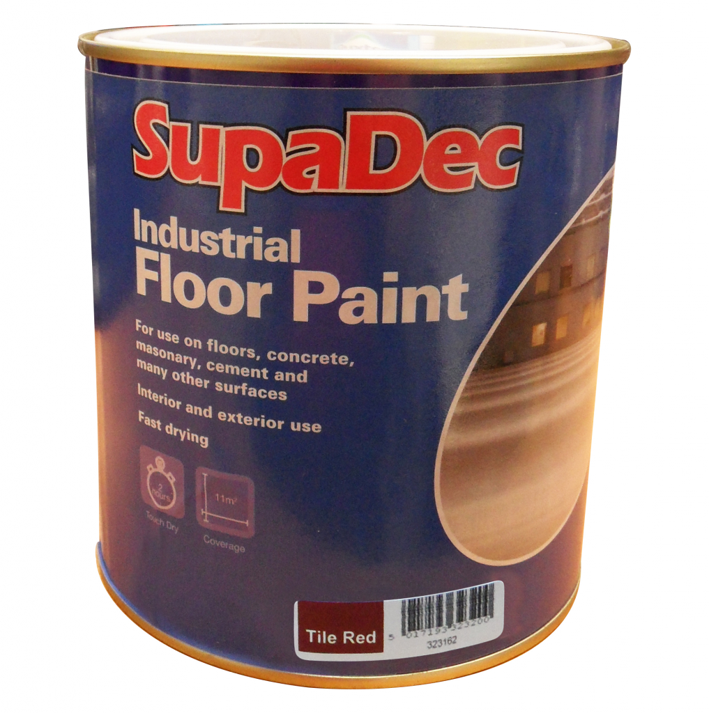 SupaDec Industrial Floor Paint 1L - Tile Red
