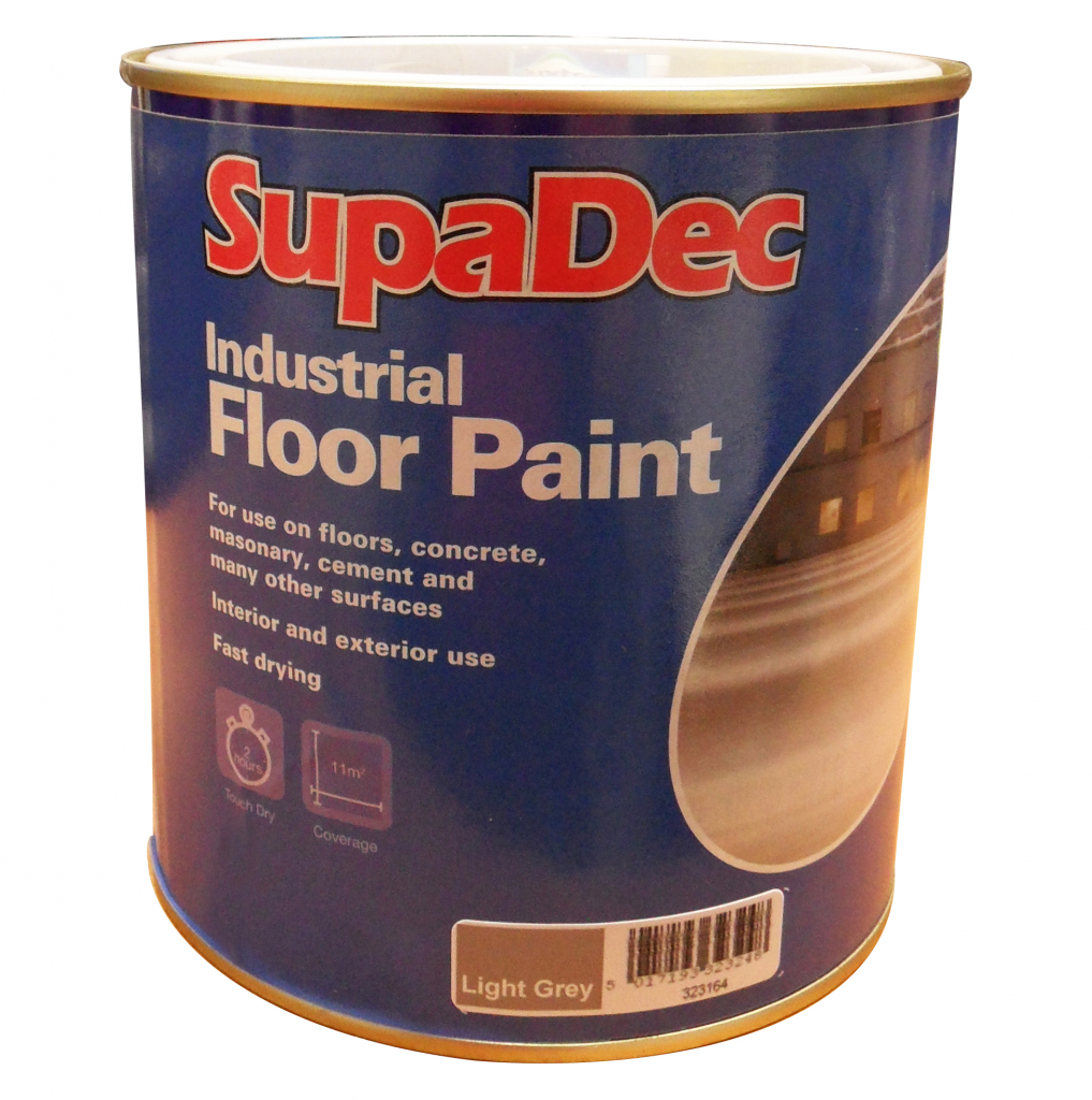 SupaDec Industrial Floor Paint 1L - Light Grey