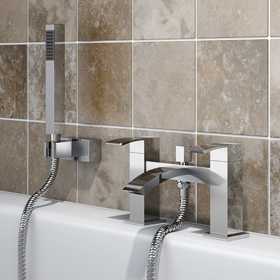 SP Aero Bath Shower Mixer Tap - W: 229mm H: 141mm D: 141mm