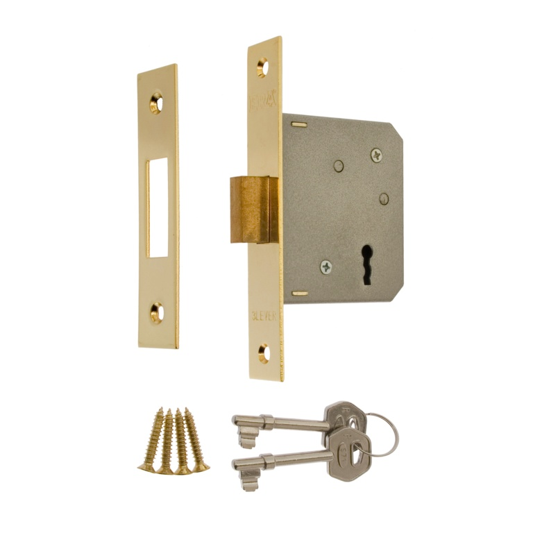 "Era 3 Lever Deadlock 3"" Brass Effect - Brass Eff 76mm"