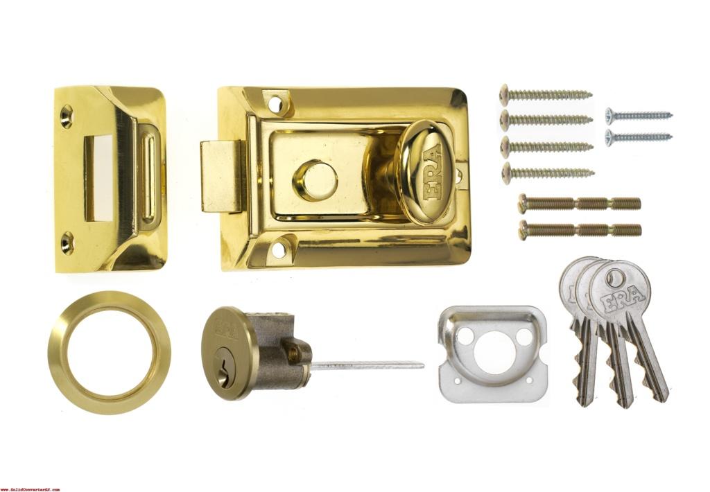 Era Traditional Nightlatch Brass Effect Body - Brass Effect 60mm