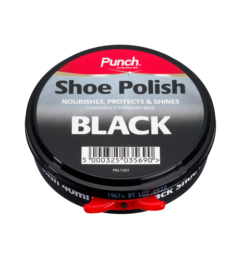 Punch Shoe Polish 40ml - Black