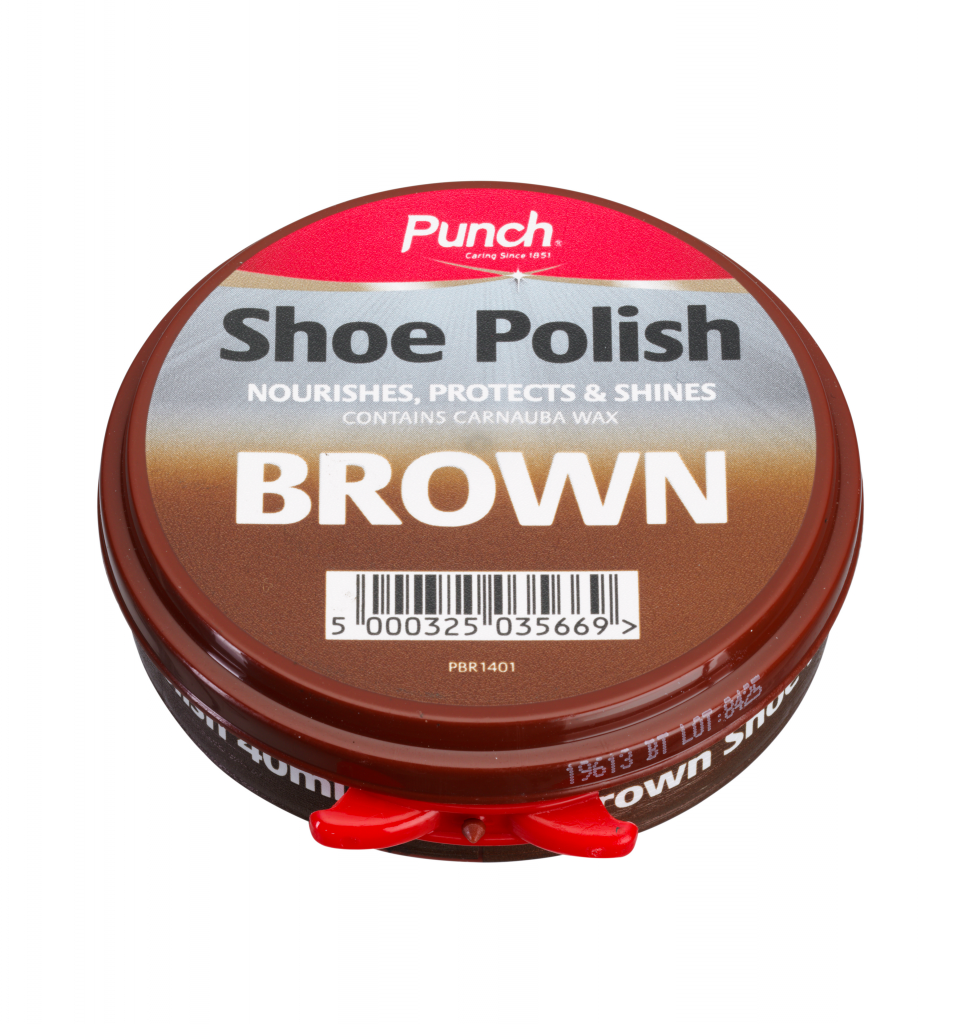 Punch Shoe Polish 40ml - Brown