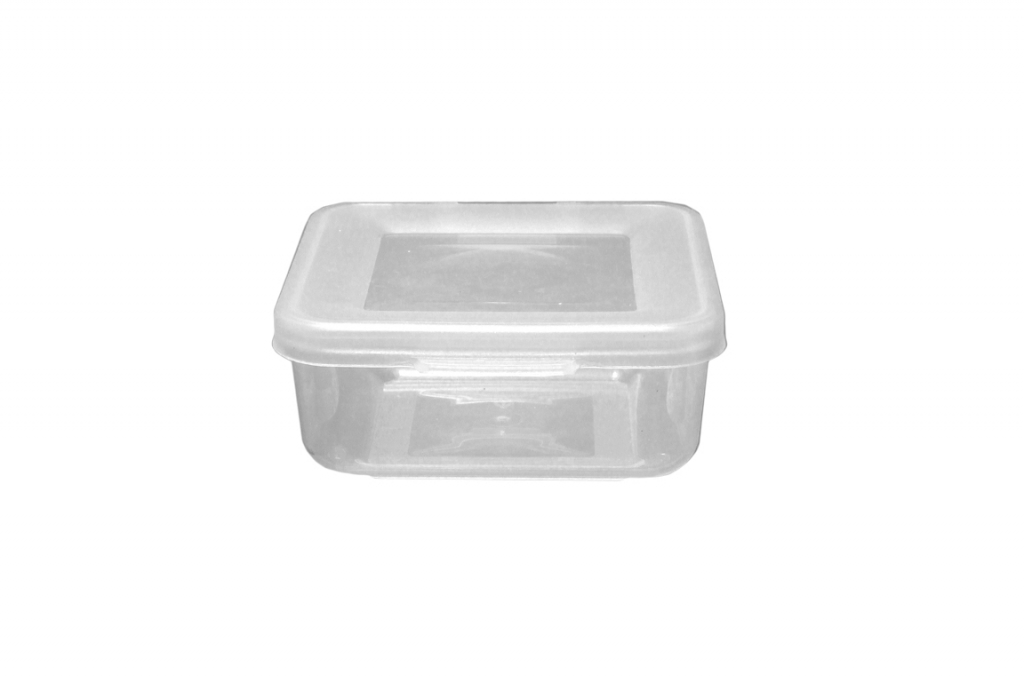 Beaufort Food Container Square Hinged Lid - 165ml Clear